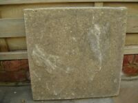 USED NATURAL RIVVEN 450MM X 450MM PAVING SLABS 100 IN TOTAL
