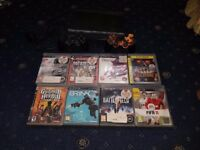Sony Playstation 3 Super Slim 320GB (2 Officials PS3 Controllers, 7 Games)