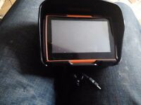 Igo sat nav with fitting and hood good working order.