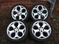 """GENUINE Ford ST Focus/Mondeo/Transit 18"""" Inch Alloys With *Good Tyres* 5x108. 8Jx18."""