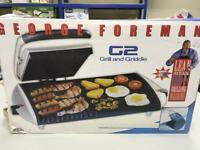 GEORGE FOREMAN G2 GRILL AND GRIDDLE NEW