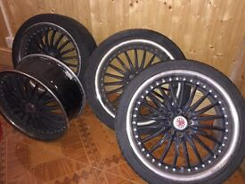 """Wolfrace 17"""" alloy wheels for Renault Clio"""