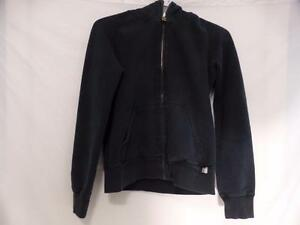 TNA (ARITZIA) black zip front sweatshirt hoodie size small great for any season, exercise, outdoor activity, running EUC
