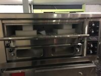 Commercial Twin 2 Deck Electric Pizza Oven