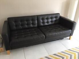 IKEA LANDSKRONA Brown Leather Double Sofa