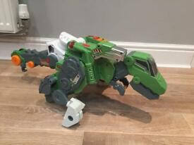 Vetch switch and go Dino, transforming and talking dinosaur/ truck