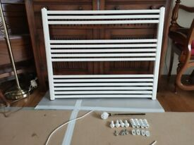 ELECTRIC TOWEL RADIATOR WITH THERMOSTAT - PRICE REDUCED