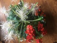 Artificial Outdoor Floral Garden Planters
