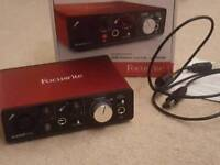 2nd Gen Scarlett Solo. USB audio interface & preamp