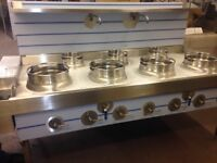 CHINESE WOK COOKER, NEW, 4+3, NATURAL GAS OR LPG, REMOVABLE CAST IRON RINGS, CHOICE OF BURNERS £3300