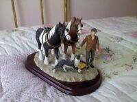 leonardo working horses collectable ornament/sculpture.