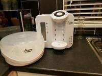 Tommee Tippee Closer To Nature Perfect Prep Machine and microwave bottle steriliser