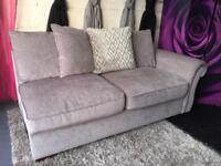 New Kaloon 2 Seater Sofa In Chenille Fabric In Mink Colour Chaise Corner Sofa