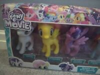 My Little Pony The Movie 6 Pony Collection Boxed Nearly New + FREE fairground