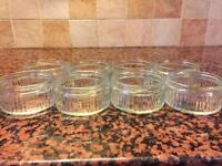 8 glass ramekins