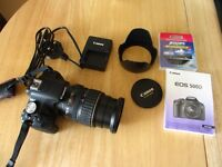 Canon D500 Digital SLR with EF 28-135 IS USM Lens + Accessories