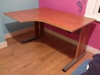 John Lewis Corner Desk, Maple Finish