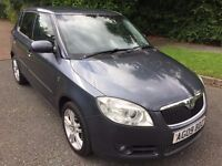 SKODA FABIA 1.4 TDI PD3 5 DOOR 09 REG IN THUNDER GREY WITH FULL SERVICE HISTORY AND MOT JULY 2018