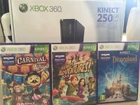 Xbox 360 250GB Console with Kinect Sensor: Includes Kinect Adventures + 2 other game DVD's