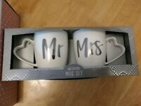 Mr and Mrs Mugs. Brand new in box