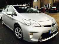 TOYOTA PRIUS 2014 SILVER BLACK LEATHERS 1 OWNER FULL TOYOTA HISTORY UBER READY NOT HONDA