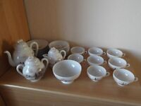 BEAUTIFUL ORIENTAL JAPANESE / CHINESE EGGSHELL TEASET
