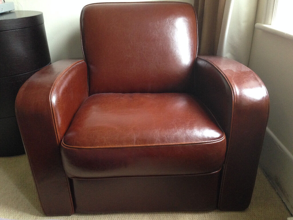 Single Leather Sofa In Chocolate Brown Superb Condition In
