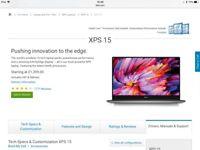 Dell XPS 15 full hd laptop