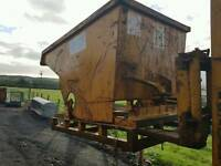 Forklift tipping skip ideal for farm stables scrap rubbish building site etc
