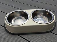 Dual Dog feeding/water bowls