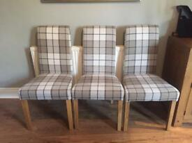 Set of 6 oak furniture land dining chairs hardly used