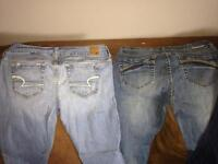 Brand name jeans!