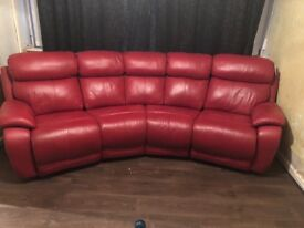 3 seater curvedleather sofa recliner plus armchair