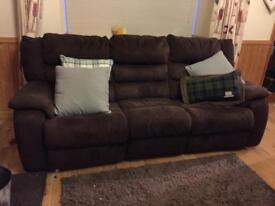 Sofa - 3 seater electric recliner