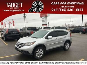 2013 Honda CR-V Touring Fully Loaded; Leather, Roof, Navi and Mo