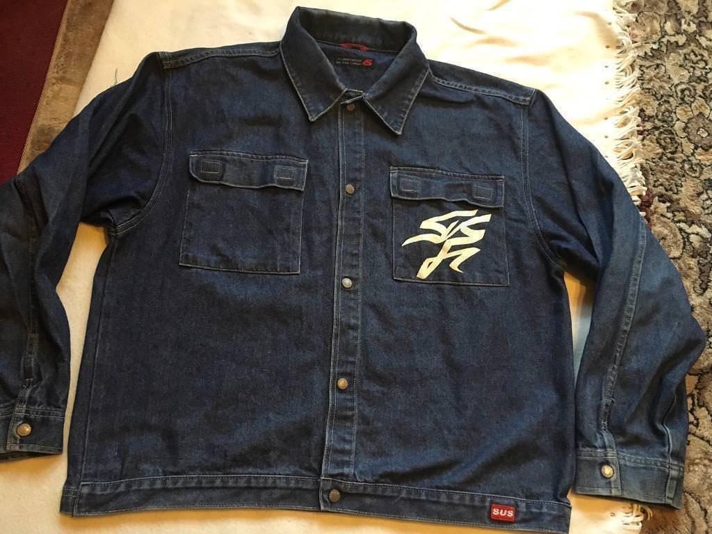 Sus denim company men's jacket jeans size L used ex condition £5