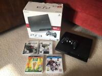 PS3 Console Black Boxed 160GB with games