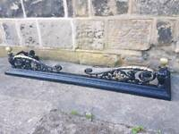 Vintage / Antique Heavy Cast Iron Fire Fender Hearth Surround Fire Guard