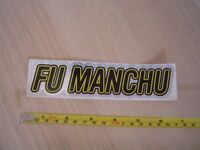 FU MANCHU STICKER REFLECTIVE ORIGINAL 1990's IN PERFECT CONDITION KING OF THE ROAD