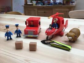 Postman Pat Bundle & Fireman Sam figures