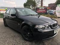 BMW 3 SERIES 1.8 316TI SPORT 3d 114 BHP - PX TO CLEAR CHEAP (black) 2004