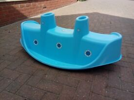 Childrens outdoor seesaw/rocker