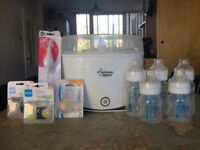 Electric steriliser, bottles and accessories