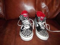 Vans off The Wall Patent Spotted Lace Up Ankle Boots Size 5