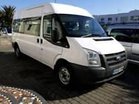 Ford transit 100 T350L RWD 2.4 LWB 12 seater minibus NO VAT