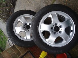 GENUINE MERCEDES AlLOY WHEELS AND TYRES WILL FIT ML-R Class VITO/VIANO