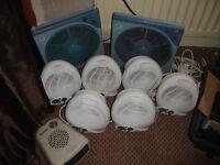 Assortment of Fan heaters