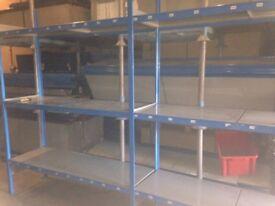 QBS industrial longspan shelving 2.4M high ( pallet racking , storage )