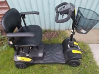 "RASCAL VEO yellow"" MOBILITY SCOOTER - CAN BE DISMANTLED INTO 6 PIECES USED TWICE"