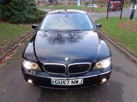 2008 BMW 7 Series 3.0 730d SE 4dr [SAT NAV+PHONE+LEATHER+PARK AID+FSH+WARRANTY]